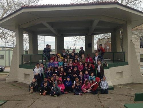 Kids at the Gazebo at Central Park - Hannibal, MO