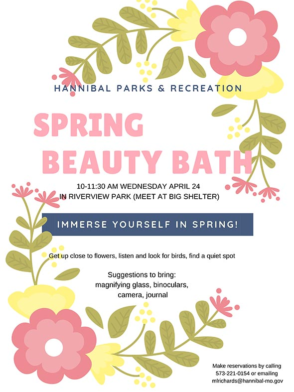 Spring Beauty Bath 2019 -  Hannibal, MO