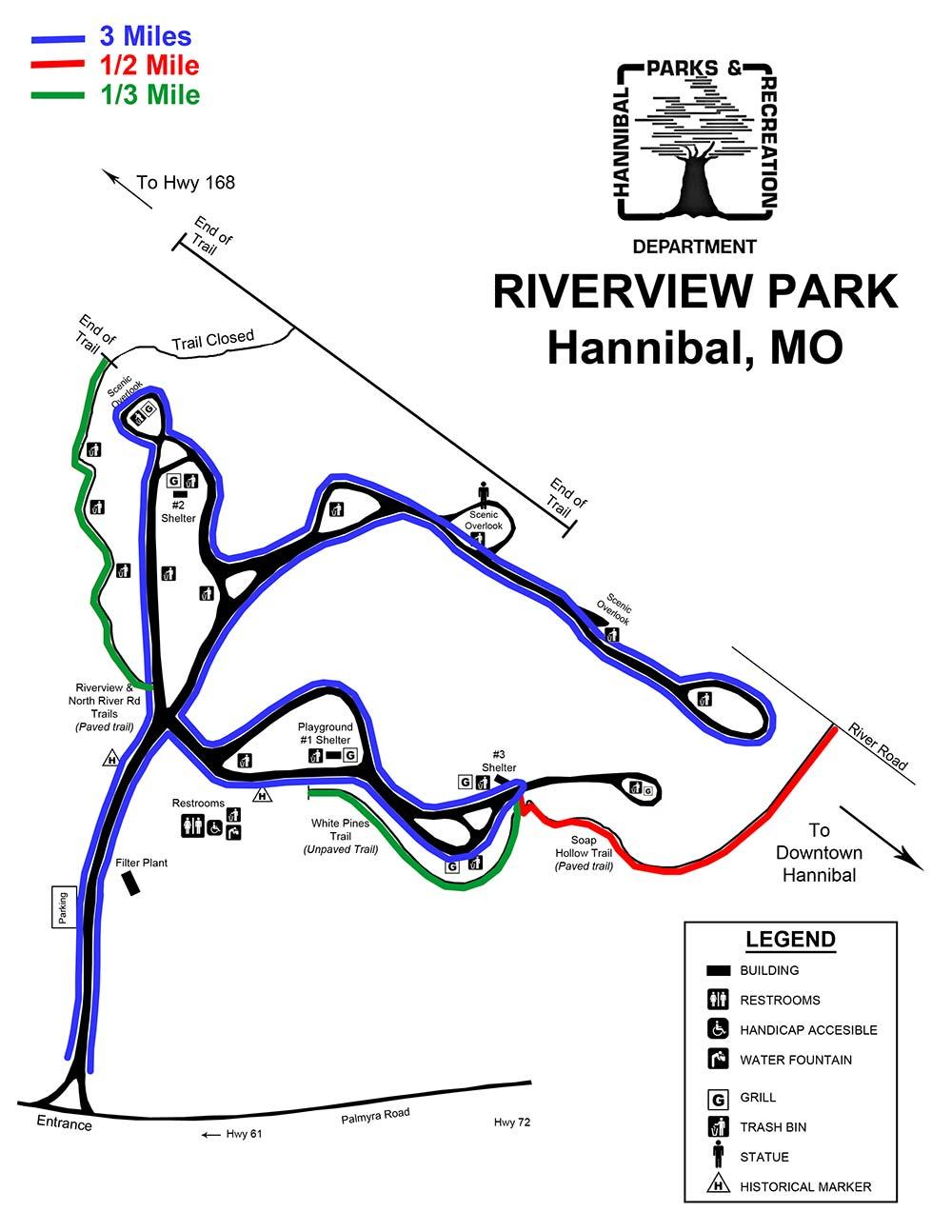 Riverview Map Mileage