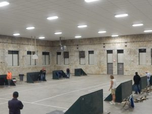 Horseshoes at the Armory